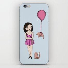 The cat balloon iPhone Skin