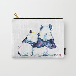 Pandas Bears Colorful Watercolor Painting Carry-All Pouch