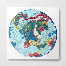 Tokyo Asakusa Dragon Metal Print