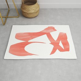 "Ballet shoes ""Coral"" Rug"