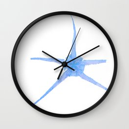 Starfish Snowflake Wall Clock