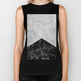 Concrete Arrow - Black Granite #844 Biker Tank