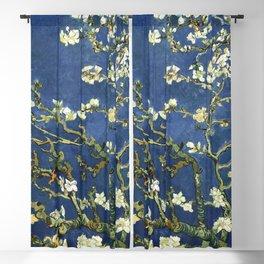 Almond Blossom - Vincent Van Gogh (dark blue) Blackout Curtain