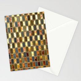 Black Gold Copper Tile Stationery Cards