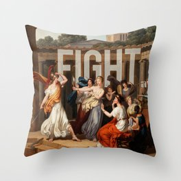 Fight. Throw Pillow