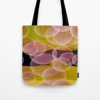 bubbles Tote Bags featuring Bubbles by lillianhibiscus