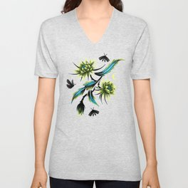 Queen of the Night - Teal Unisex V-Neck