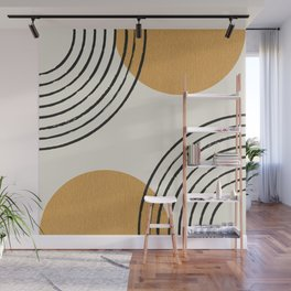 Sun Arch Double - Gold Wall Mural