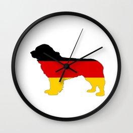 German Flag - Newfoundland Dog Wall Clock