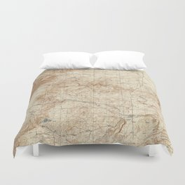 New Mexico Topographical Map print from 1934 Duvet Cover