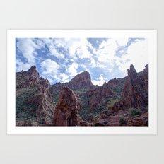 Flat Iron Peak Art Print