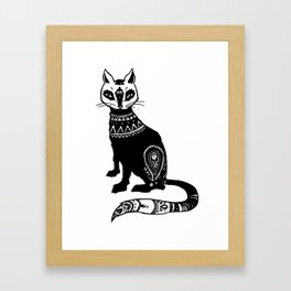 Paisley Cat Framed Art Print