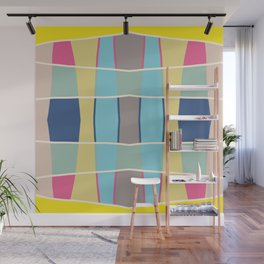 Minimal Colorful Design Grit Wall Mural