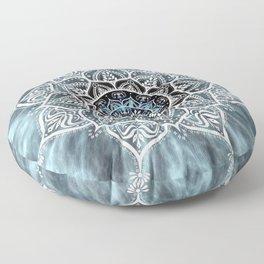 Mandala Nirvana Blue Spiritual Zen Bohemian Hippie Yoga Mantra Meditation Floor Pillow