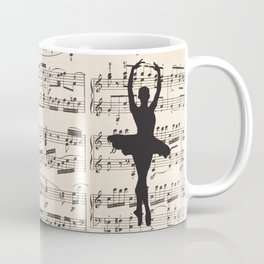 ballerina art, music Notes , girls nursery art, ballerina décor , girls nursery art , Coffee Mug