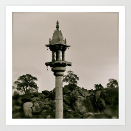 A kind of Minaret in India Art Print