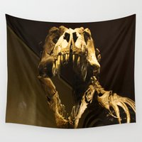 t rex Wall Tapestries featuring T-Rex by Vito Fabrizio Brugnola