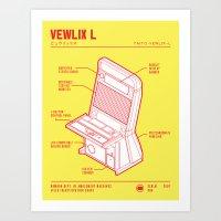 ARCADE CAB - VEWLIX Art Print