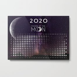 Moon calendar 2020 #4 Metal Print