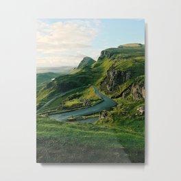 The Quiraing in Isle of Skye, Scotland Metal Print