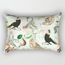 Monkeys, fruits and more Rectangular Pillow