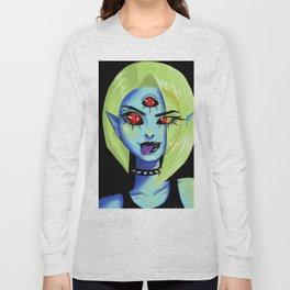 Blue Rocker girl monster Long Sleeve T-shirt