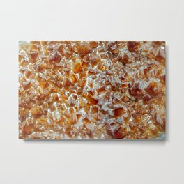 Citrine quartz crystal gem cluster from Brazil Metal Print
