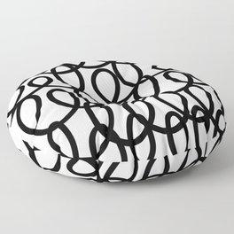 Loop the Loop / Black on white Floor Pillow