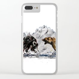 Bull and Bear Clear iPhone Case