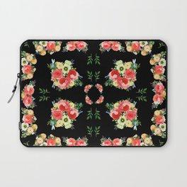 Tiny Blütenschön Black Laptop Sleeve