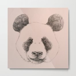 pink panda Metal Print