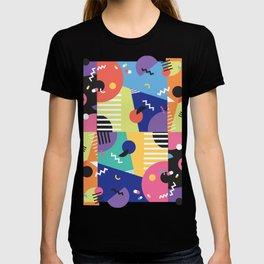 Colourful Memphis Block Design T-shirt