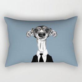 Greyhound in suit Rectangular Pillow