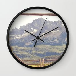 Western Mountain Ranch Wall Clock