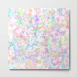 Rainbow Bubbles of Light Metal Print