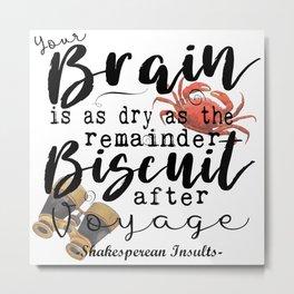 Biscuit Brain Metal Print