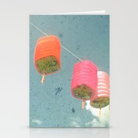 lanterns Stationery Cards featuring Lanterns by Cassia Beck
