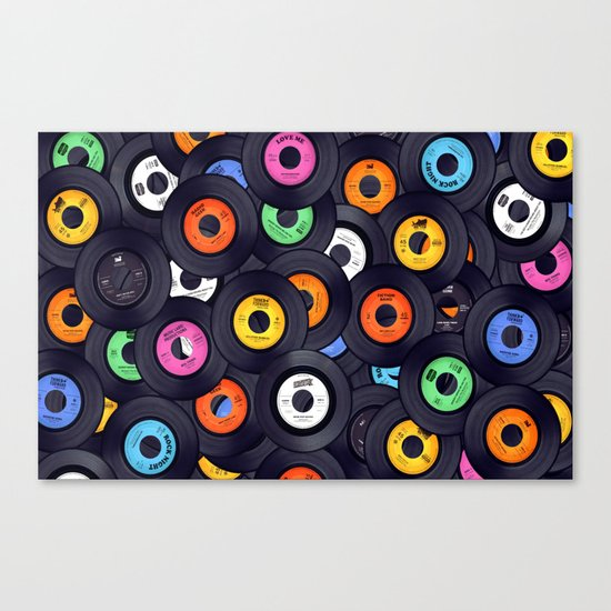 Vinyls Canvas Print