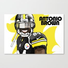 Antonio Brown  Canvas Print