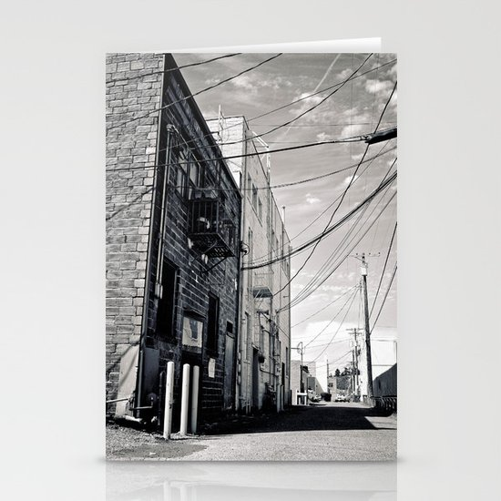 Grit city alley Stationery Cards