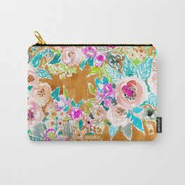 SO LUSCIOUS Colorful Abstract Floral Carry-All Pouch