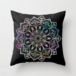 Scratchboard Mandala Throw Pillow