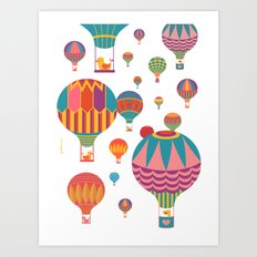 Air Balloons Art Print
