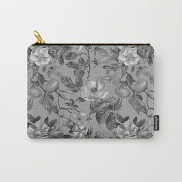 Vintage hand painted black gray watercolor roses floral Carry-All Pouch