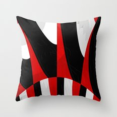 black and white meets red Version 13 Throw Pillow