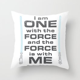 Force is with Me - Blue Throw Pillow