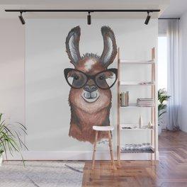 Hipster Llama Wall Mural