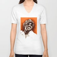stevie nicks V-neck T-shirts featuring Stevie Wonder by ChrisGreavesCreative