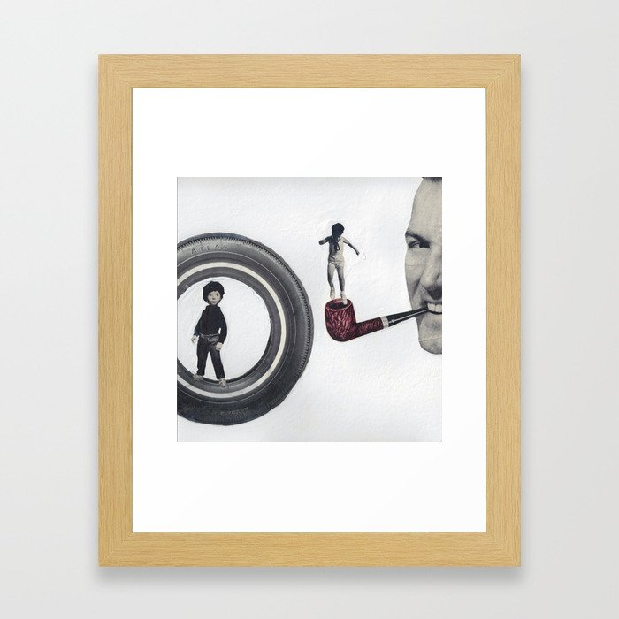 Atlas Jack and His Sister Zoey Framed Art Print