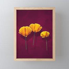 Three Poppies Framed Mini Art Print